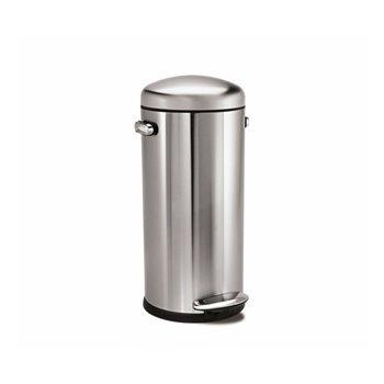 Retro pedálový odpadkový koš Simplehuman – 30 l, matná ocel, FPP