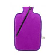 Termofor Hugo Frosch Eco Classic Comfort se softshellovým obalem na zip – fialový