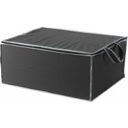 Textilní úložný box na 2 peřiny Compactor URBAN 55 x 45 x 25 cm – černý