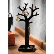Stojan na šperky ve tvaru stromu Compactor - černý plast