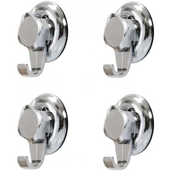 Háčky do koupelny bez vrtání Compactor - Bestlock systém, nosnost až 6 kg, široké, 4 ks
