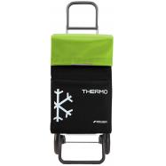 Rolser Termo Fresh MF RG nákupní taška na kolečkách, černo-zelená