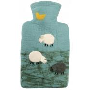 Termofor Hugo Frosch Classic s plstěným obalem ze 100 % ovčí vlny merino – ovečky