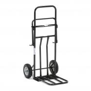 Multifunkční vozík, držák na pytle, nosnost 100 kg, černý