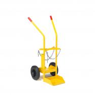 Vozík na tlakové lahve, 480x1060x260mm, plná gumová kola