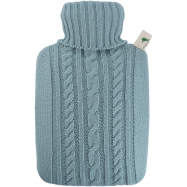 Termofor Hugo Frosch Classic s pleteným obalem - pastelově modrý
