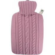 Termofor Hugo Frosch Classic s pleteným obalem - pastelově růžový