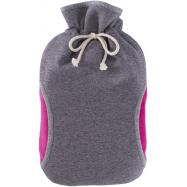 Termofor Hugo Frosch Eco Classic Comfort s fleecovým obalem a rukávníkem – růžový