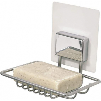Samolepicí držák na mýdlo Compactor Bestlock Magic systém bez vrtání, chrom