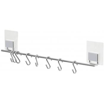Samolepicí závěsná kuchyňská tyč Compactor Bestlock Magic systém bez vrtání, 8 háčků