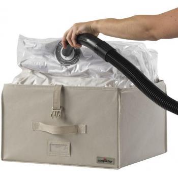 Compactor 2.0. vakuový úložný box s vyztuženým pouzdrem - M 100 litrů, 42 x 42 x 25 cm