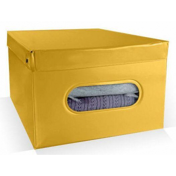 Skládací úložný box PVC Compactor Nordic 50 x 38.5 x 24 cm, žlutý