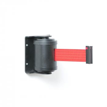Zahrazovací pás, 180°, 4500 mm, černá, červený pás