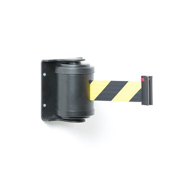 Zahrazovací pás, 180°, 4500 mm, černá, žlutočerný pás
