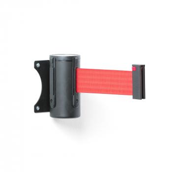 Zahrazovací pás, 2300 mm, nástěnná kazeta, černá, červený pás