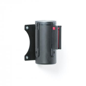 Zahrazovací pás, 2300 mm, nástěnná kazeta, černá, červenobílý pás