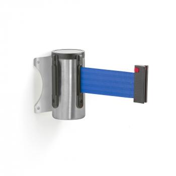 Zahrazovací pás, 2300 mm, nástěnná kazeta, broušená ocel, modrý pás