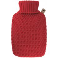 Termofor Hugo Frosch Classic s pleteným obalem Coral - oranžový