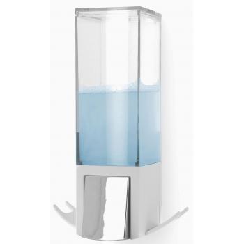 Compactor Edge nástěnný dávkovač mýdla, chrom / ABS plast - bílý, 500 ml