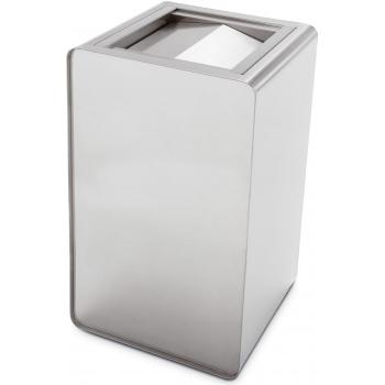 Odpadkový koš Caimi Brevetti Prisma 80 L, sklápěcí víko, nerez ocel, outdoor