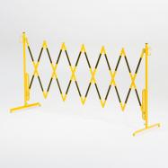 Roztahovací zábrana, bez koleček, max. 3000 mm, žlutá/černá