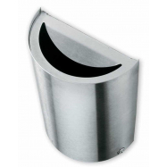 Venkovní odpadkový koš s popelníkem na zeď Caimi Brevetti Smile 45 L, nerez ocel