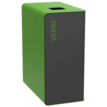 Koš na tříděný odpad - barevné sklo, Rossignol Cubatri, 56124, 65 L, zelený
