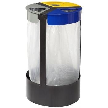 Koš na tříděný odpad Rossignol Citwin 58734, 3 x 45 L, lakovaná ocel