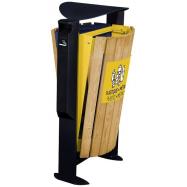 Venkovní koš na tříděný odpad, s popelníkem, Rossignol Arkea 56371, 2x60 L, modrý, žlutý