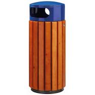 Venkovní odpadkový koš Rossignol Zeno 57885 - 60 L, dřevo, modrý