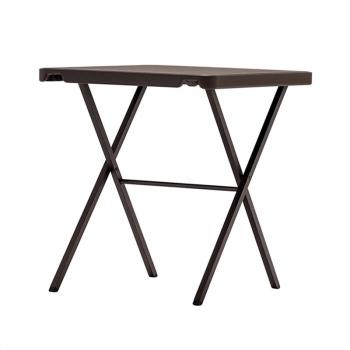 Víceúčelový skládací čtvercový stůl BISTROT 70 - tmavý bronz