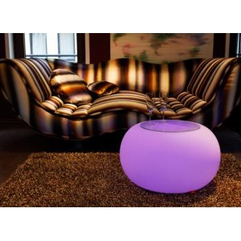 Svítící taburet Bubble - vnitřní, úsporná žárovka