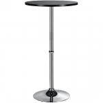 Koktejlový stůl Solo, výška 108 cm, MDF deska Ø 60 cm, hliníková podnož, Ø45 cm základna