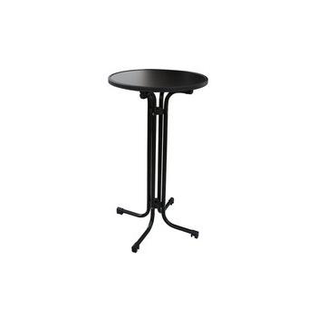 Skládací koktejlový stůl MODENA s deskou Ø 70 cm, antracitový