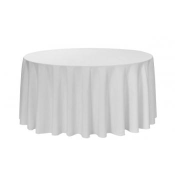 Ubrus na kulaté stoly, ∅ 240 cm, 100% PE, 170 g/m2, bílý