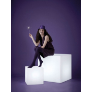 Svítící sedací taburet CUBO 43x43x43 cm