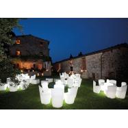 Svítící designová plastová židle ZOE