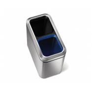Odpadkový koš na tříděný odpad, Simplehuman 20 l (10/10), otevřený, kartáčovaná nerez ocel