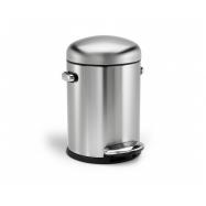 Retro pedálový odpadkový koš Simplehuman - 4.5 l, matná ocel, FPP