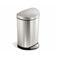 Pedálový odpadkový koš Simplehuman – 10 l, půlkulatý, matná nerez ocel, FPP