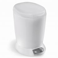 Pedálový odpadkový koš Simplehuman – 6 l, bílý plast