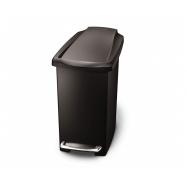 Pedálový odpadkový koš Simplehuman – 10 l, úzký, černý plast
