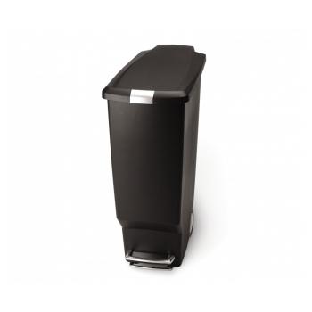 Pedálový odpadkový koš Simplehuman – 40 l, úzký, černý plast