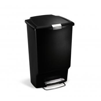 Pedálový odpadkový koš Simplehuman 45 l, obdélníkový, plast, černý