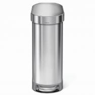 Úzký pedálový odpadkový koš Simplehuman Slim – 45 l, kartáčovaná nerez ocel, FPP
