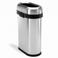 Odpadkový koš Simplehuman pro obchodní prostory – 50 l, SLIM, otevřený, kartáčovaný nerez