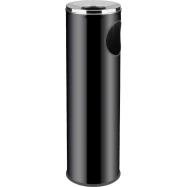 Odpadkový koš s popelníkem Cigarette Pilar ALDA 15 l, černý