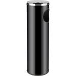 Odpadkový koš s popelníkem o průměru 20 cm, výšce 69 cm, objemu 15l, černý