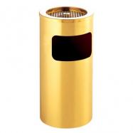 Stojanový koš s popelníkem GPX-12A, kulatý, zlatý
