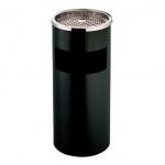 Stojanový koš s popelníkem v černém provedení